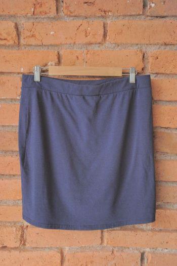 Falda lapiz azul