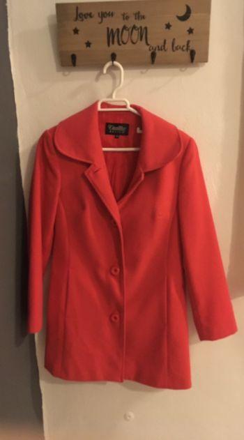 Abrigo rosa coral
