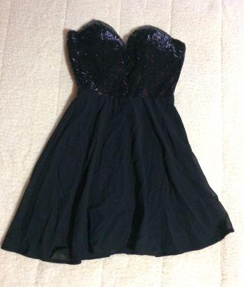 Vestido fiesta negro lentejuela