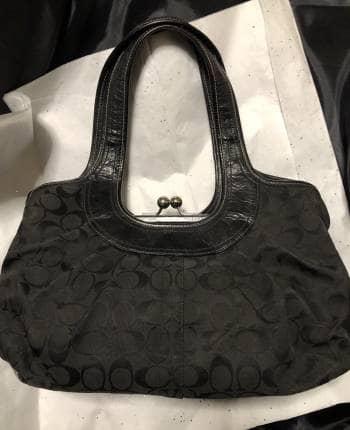 DISPONIBLE! :) Coach Ergo black signature satchel