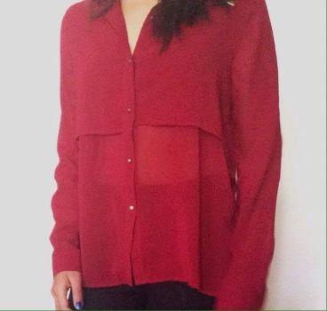 Blusa transparencia roja