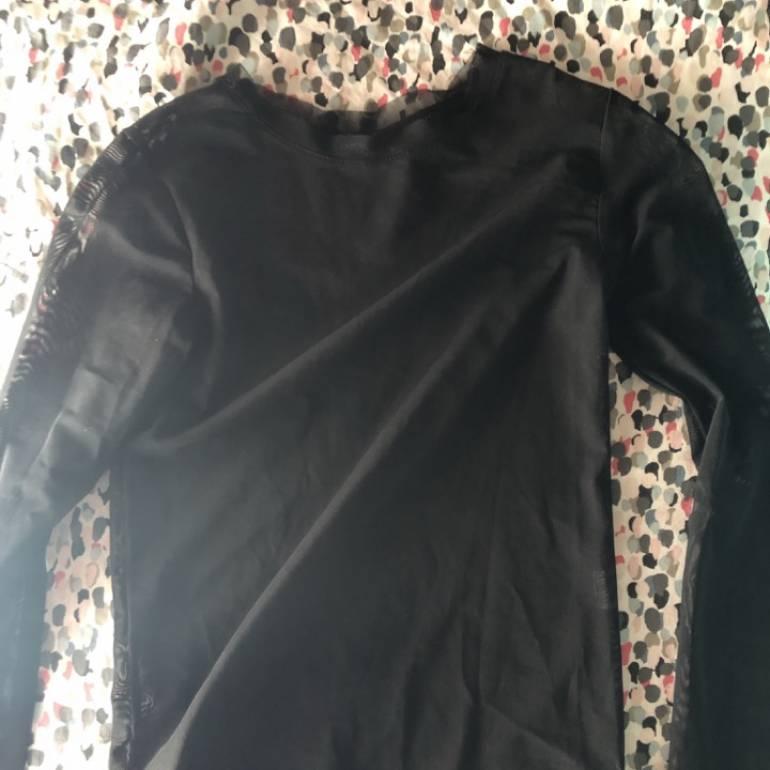 venta caliente barato precio moderado precio de fábrica Blusa negra Transparente XS bershka