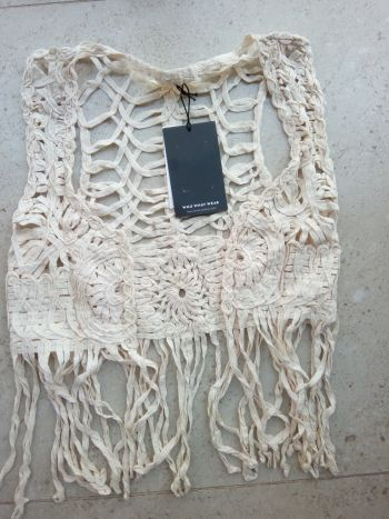 Chaleco boho crochet