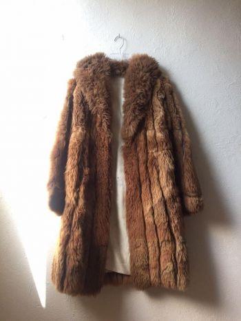 Abrigo vintage llama fur