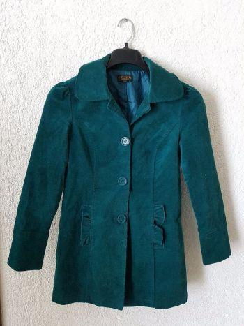 Abrigo velvet formal verde