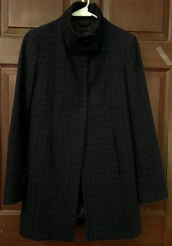 Abrigo negro-azul marino