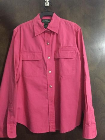 Camisa rosa botones al frente