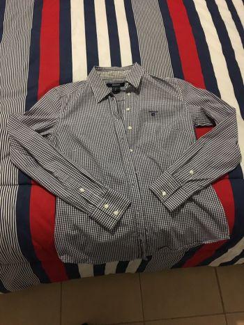 Camisa cuadros azul marino