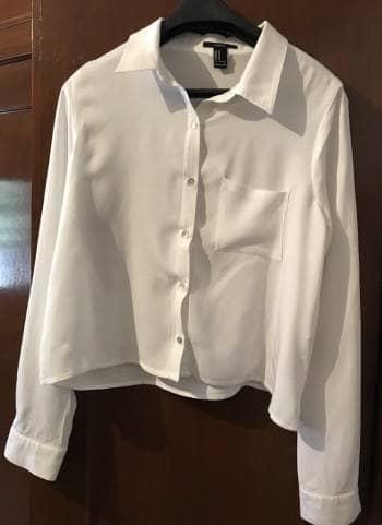 Blusa blanca basica a cintura media