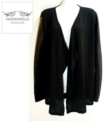¡NUEVO! Cardigan con faux leather - Fashionella