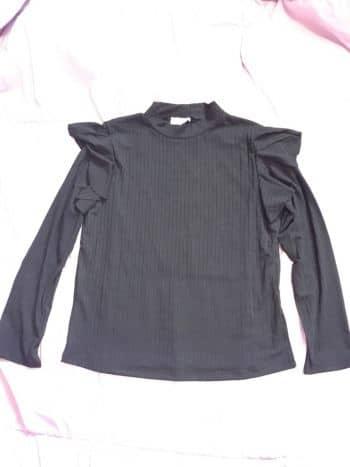 1476e7a0a651e Blusa negra basica - GoTrendier - 423405