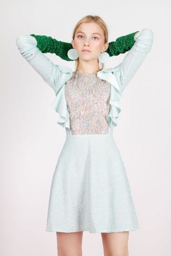 Dâ Glitter Mint Dress