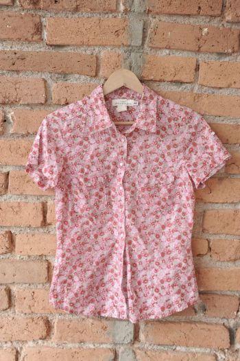 Camisa manga corta flores