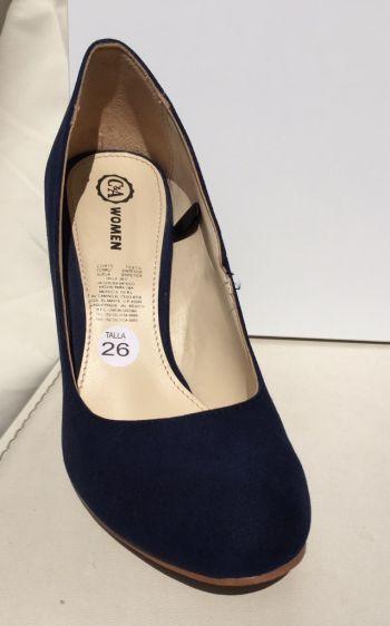 Zapatillas C&A azules punta redonda