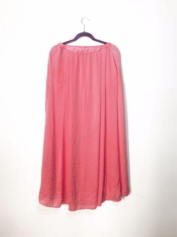 Maxi falda coral
