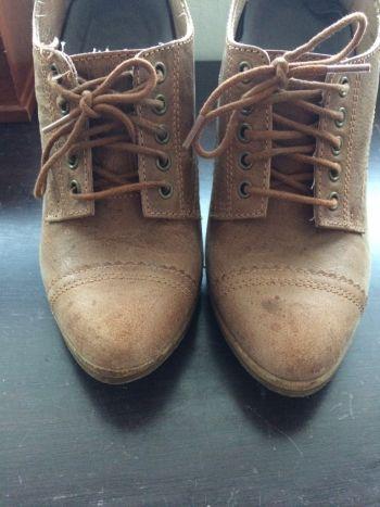 Aldo womens wedge boots