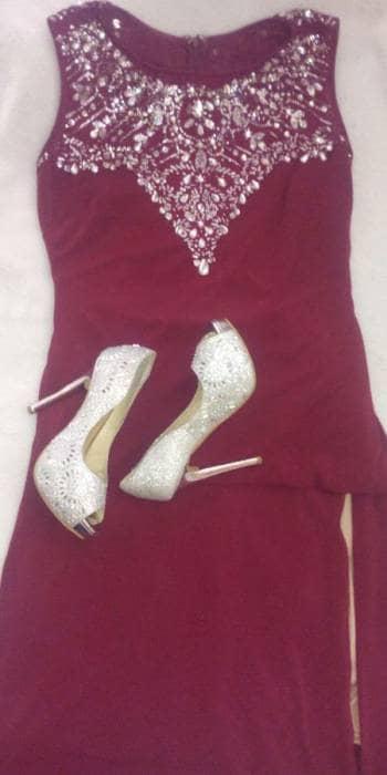 Gotrendier 640125 Vestido Vino Noche De Largo Color Dthqcrs