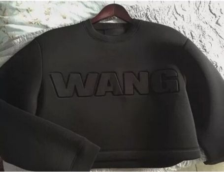 Alexander Wang Crop top sweatshirt