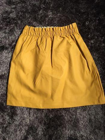 Falda de lona color mostaza talla 26