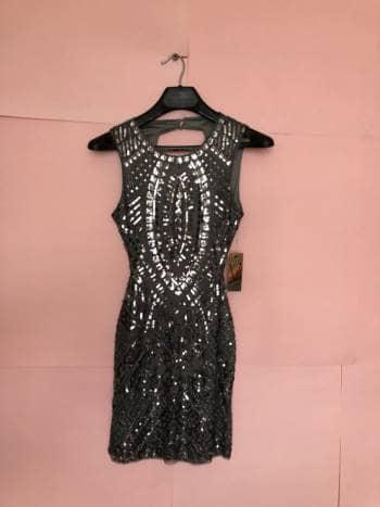 5469a4b8e221 Vestido con Bordado de Lentejuelas y Canutillo - GoTrendier - 820135