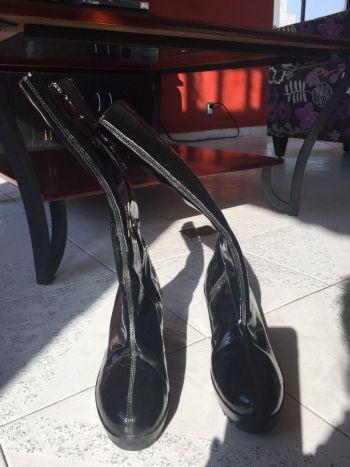 Botas de vinil para lluvia
