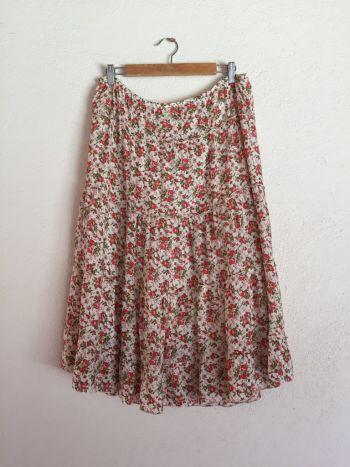 Falda talla L flores