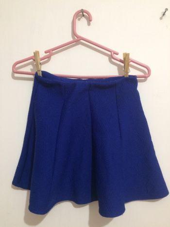 Falda azul forever 21