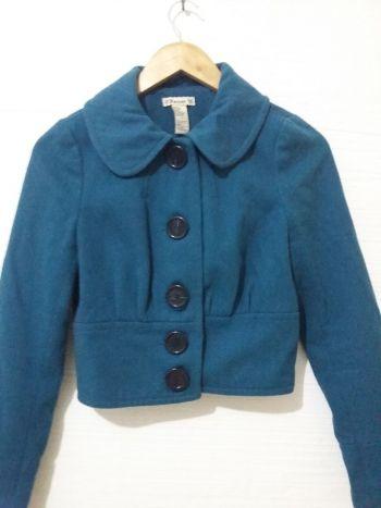 Abrigo corto turquesa