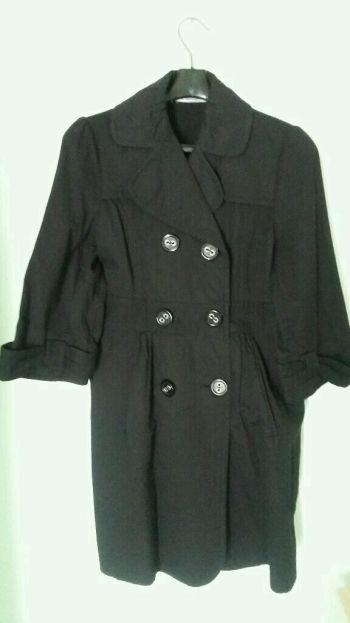 Abrigo negro casual