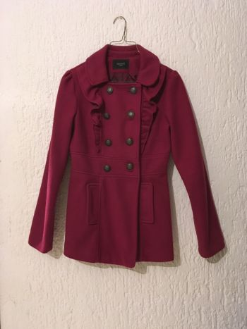 Abrigo rosa de moño