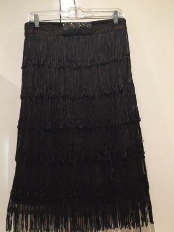 Vestido-falda flecos estilo años 20