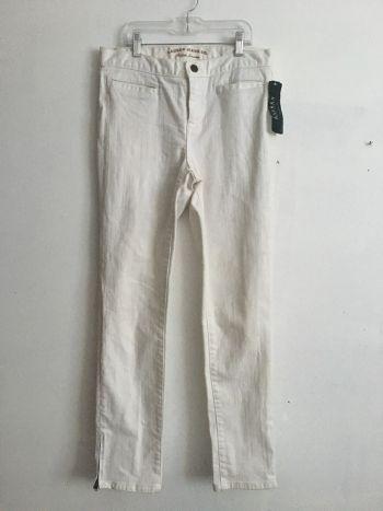 Jeans rectos color blanco