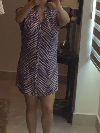 Vestido de seda bcbg