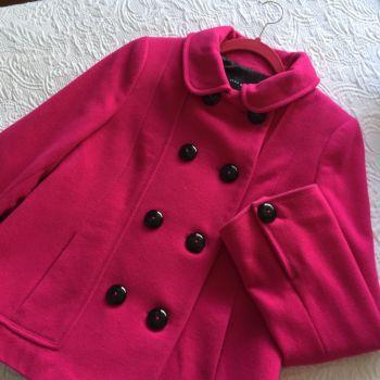 Abrigo rosa calientito zara