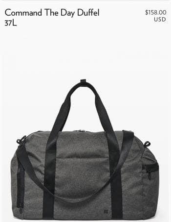 Lululemon maleta