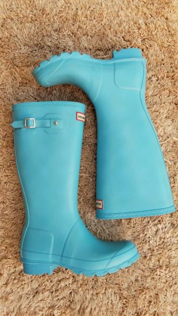 Botas Hunter Blue bubble gum