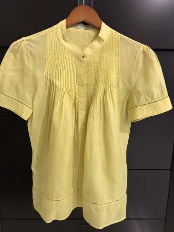 Blusa ligera Amarilla Massimo Dutti. Verano