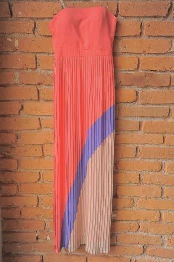 Maxi dress tableado