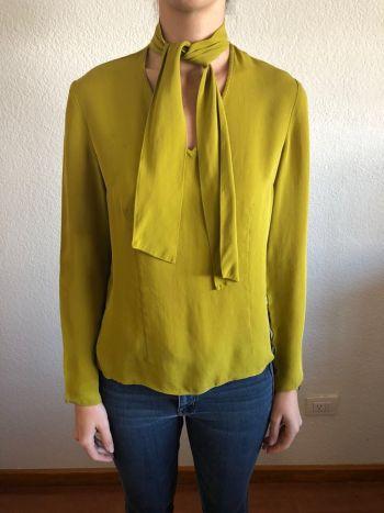 Blusa verde de seda