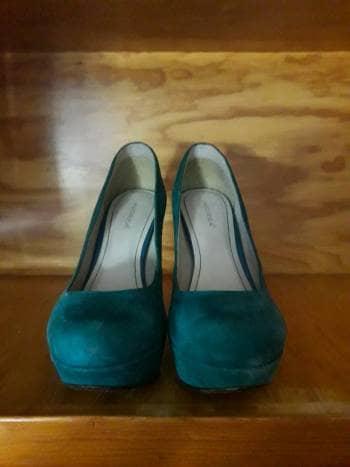 Zapatos de tacón cuadrado
