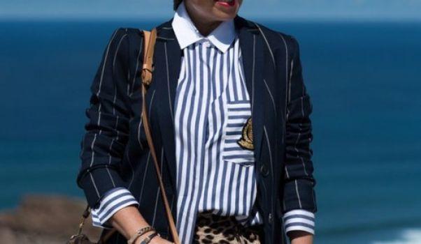 Camisa rayas con bordado