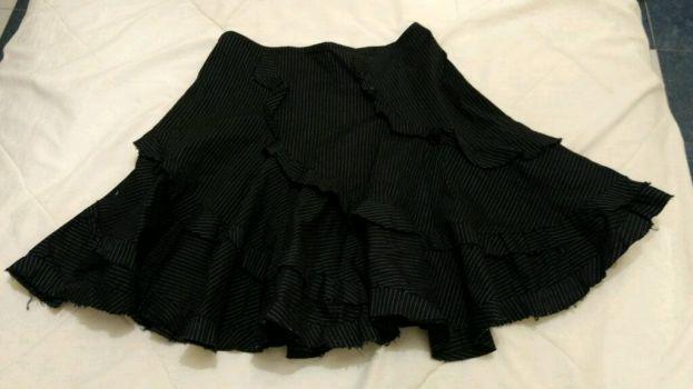 Falda negra plisada casual-vestir
