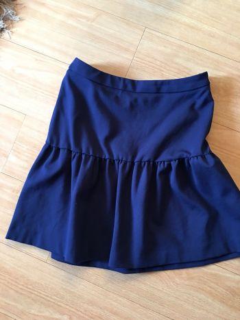 Falda corta azul