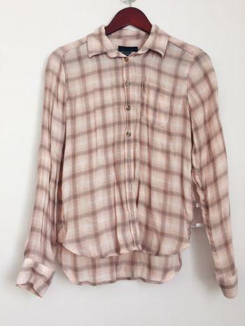 Camisa a cuadros rosas