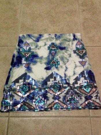 Falda lentejuela tribal 2x1