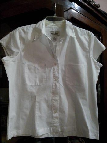 Camisa blanca manga corta.