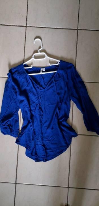 Blusa azul Elle
