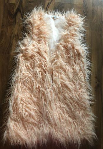 Chaleco peludito rosa faux fur