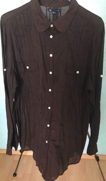 #012 Camisa café manga larga