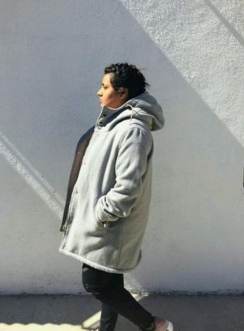 Parka gris, Pull&bear deluxe